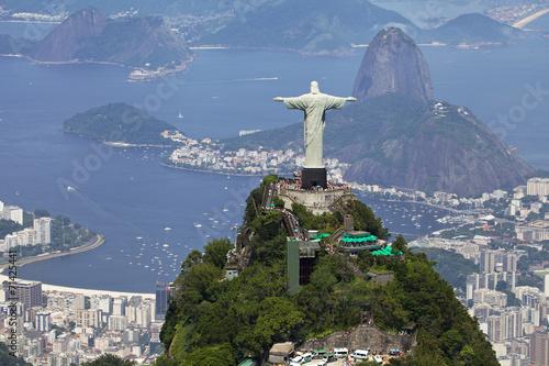 Fototapete Aerial view of Rio de Janeiro