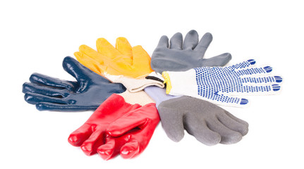 Various rubber worker gloves.