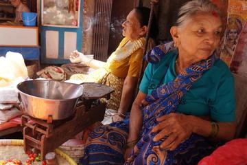 Photo sur Aluminium Népal Market Women Nepal