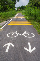Bicycle way sign