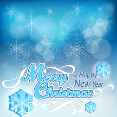 Christmas background in blue