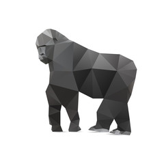 Gorilla triangle low polygon style.