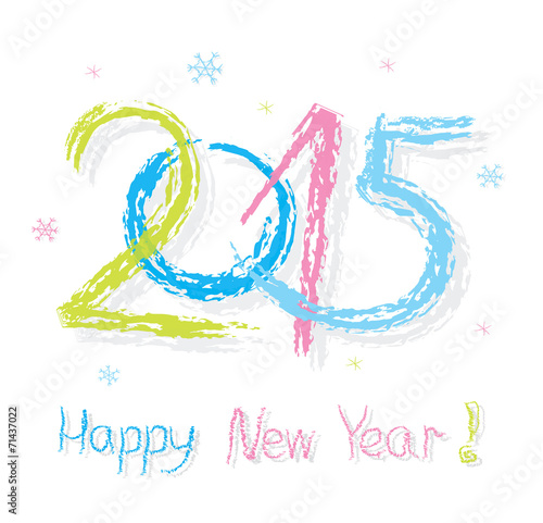 Happy new year 2015 creative greeting card design stock image and happy new year 2015 creative greeting card design m4hsunfo