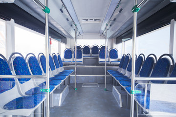Seats of bus as public transportation