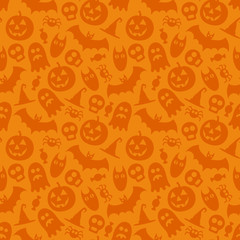 Halloween vector seamless pattern