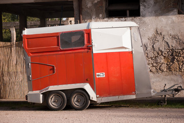 Trailer for horses transport