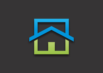 Healthy house business logo
