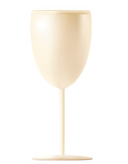 Gold wine glass isolated on a white background