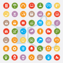 Universal and website icon set,colour version,clean vector