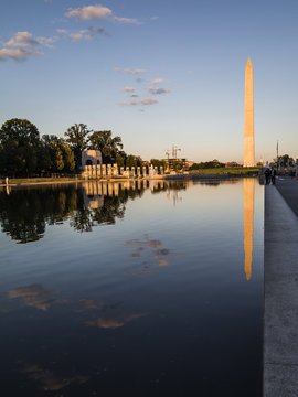 Washington Monument from the mall