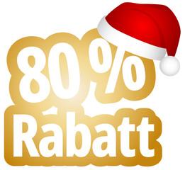 80 % Rabatt
