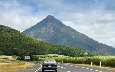 Car exploring Queensland countryside, Australia