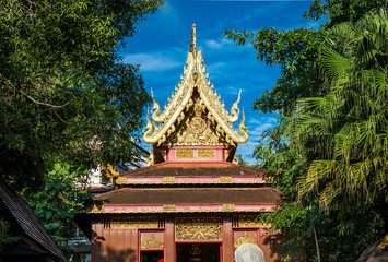 Wat Pra kaew ,Chiangrai ,The northern part of Thailand