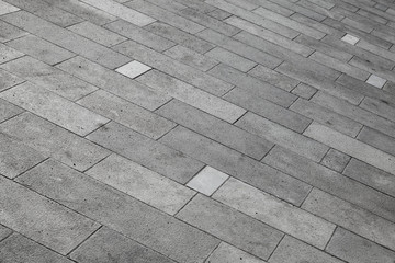 Gray tiled pavement background texture Wall mural