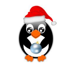 Pinguino con palla di natale