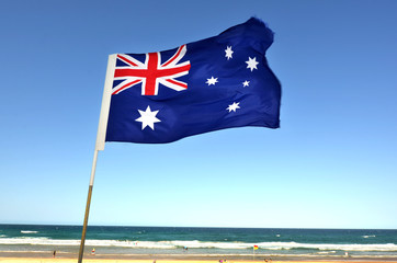 In de dag Australië The National flag of Australia
