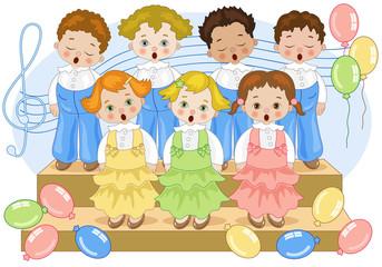 Birthday Chorus-Coretto con Palloncini