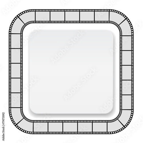 film roll frame with card - background\