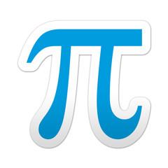 Pegatina simbolo pi