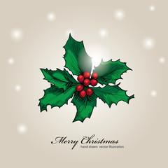 Christmas & New year holidays vector hand drawn illustration