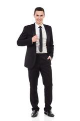 Elegance young man posing
