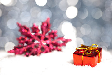 christmas decoration with gift package