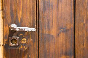 jerago abstract   rusty brass  knocker in a