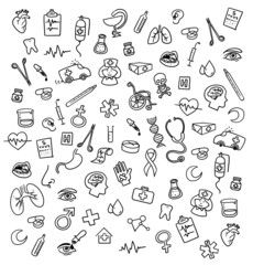 Medicine icons doodle