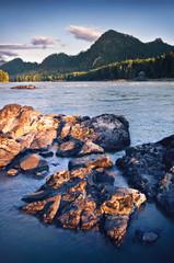 Beautiful mountain landscape with river. Altai, Russia