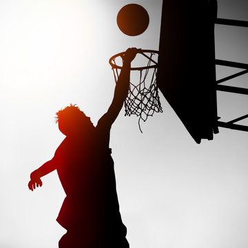 Silhouette of Basketbal Player