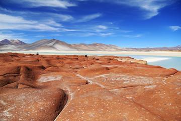 Red Stone in Atacama desert, Chile