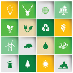 Ecology icon set,clean vector