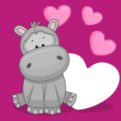 Hippo with hearts