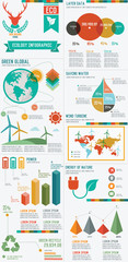 Ecology info graphic design on white background,clean vector