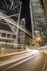 City at night in hongkong