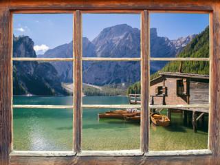 Wall Mural - Blick aus dem Fenster