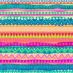 Colorful ethnic stripe seamless background