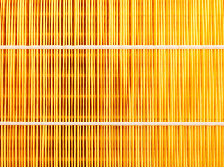 automotive air filter closeup background