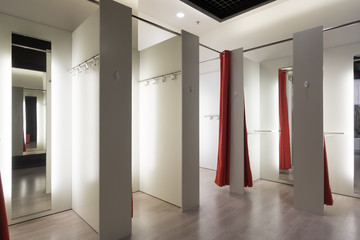 Fitting room interior