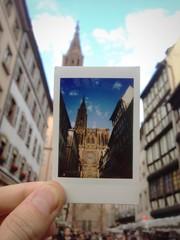 Cathédrale de Strasbourg en polaroid