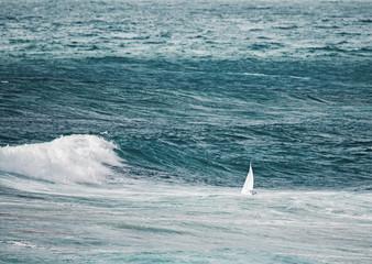 Fotobehang - sailing in the storm