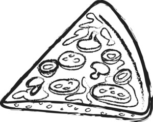 doodle Italian pizza