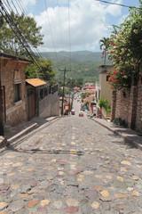Small town of Copan Ruinas, Honduras, famous Mayan ancient city