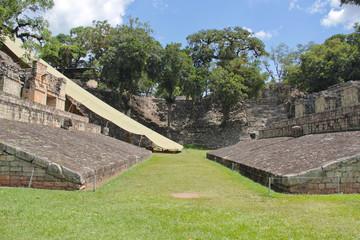 Copan, Honduras: ancient mayan ceremonial ball game court