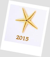 2015,bonne année,polaroid,étoile de mer