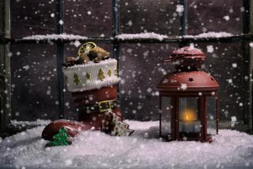 Weihnachtslichter vor dem Feste