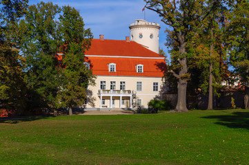 The view on old palace in Cesis city, Latvia