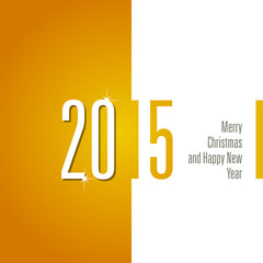 2015 orange white background vector