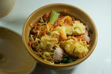 pork noodle. BBQ pork noodle bowl