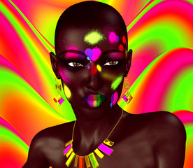 Black Beauty,Colorful Abstract